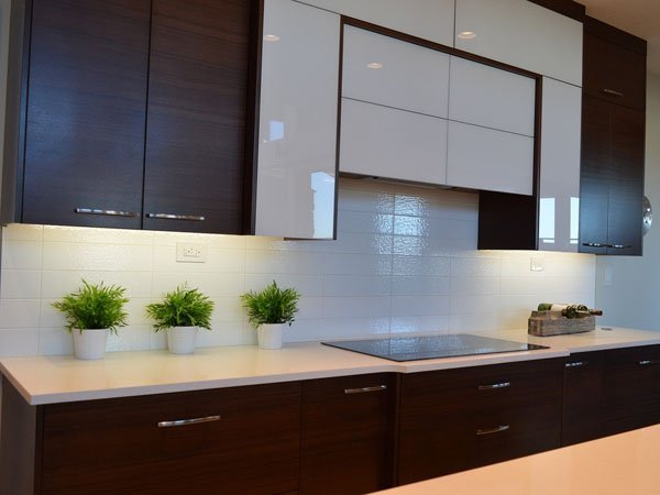 Kitchen painted with shiny sheen paint lasts longer