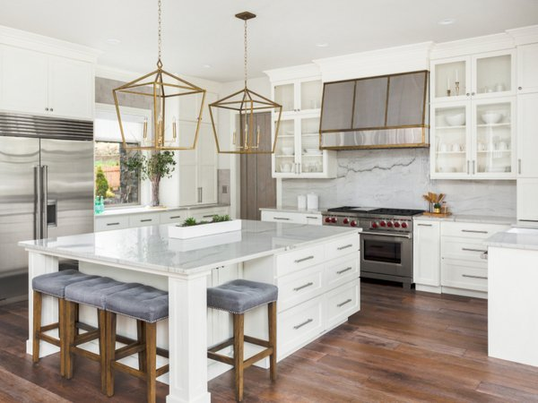 White-painted-kitchen-cabinets