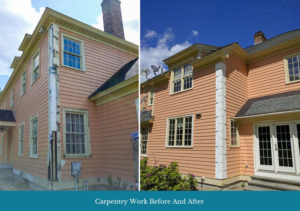 Before and after Sherwood's carpentry